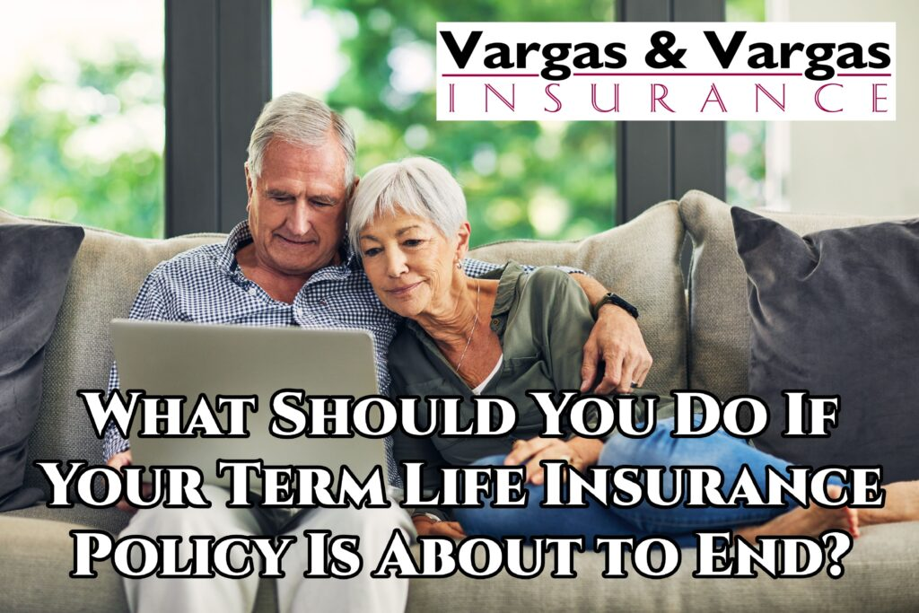 older couple discussing what to do about their term life insurance policy