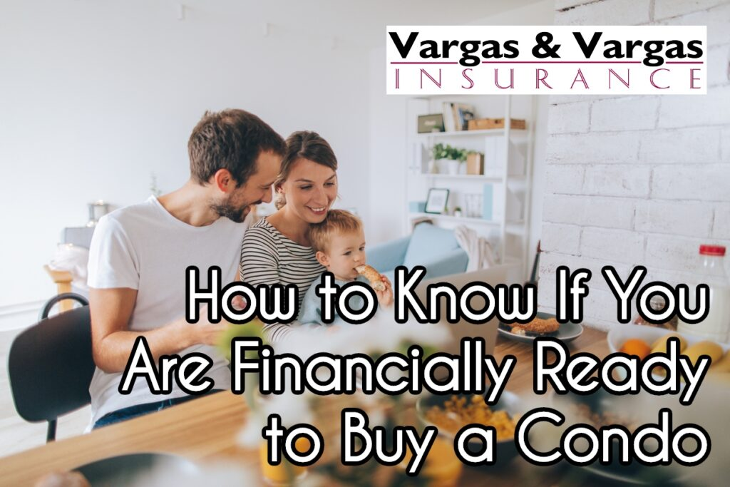 couple with a young child analyzing their finances before buying a condo