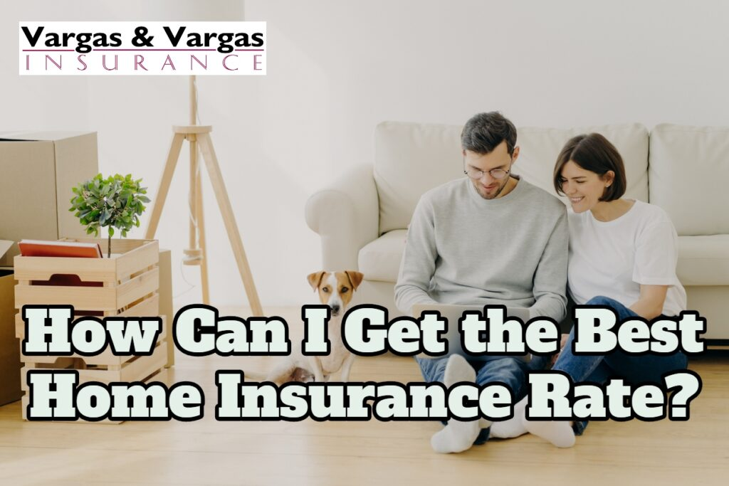couple researching home insurance rates in their new home