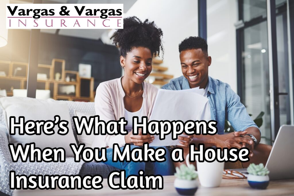Homeowners going through the house insurance claim process
