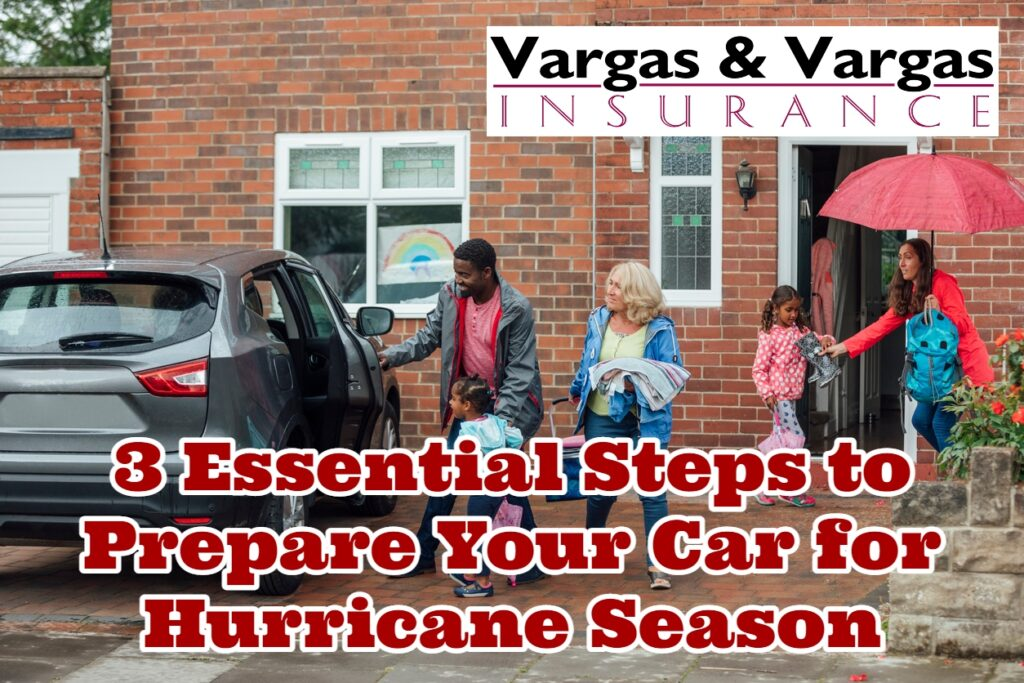 Family getting into their car before a hurricane after learning about how to prepare your car for hurricane season