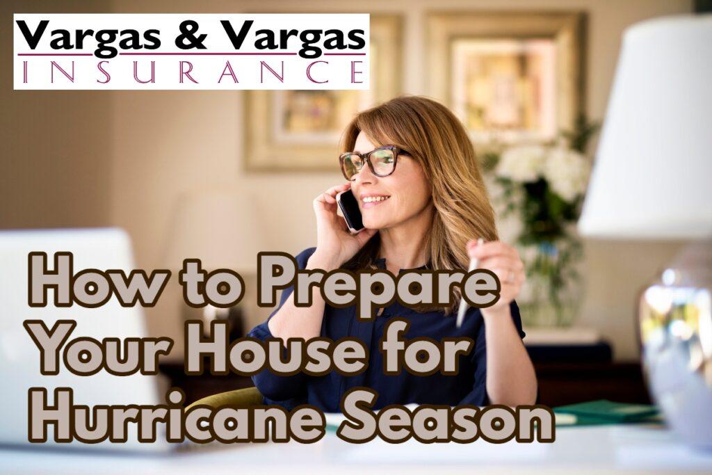 homeowner updating her house insurance as part of preparing for hurricane season