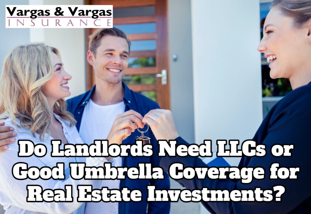 landlord handing keys to new tenants after protecting their business with umbrella coverage