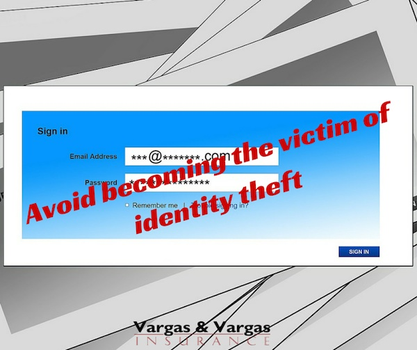 Avoid becoming the victim of identity