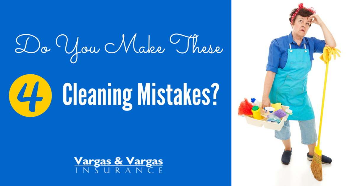 4 cleaning mistakes